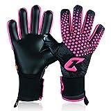 Catch&Keep Guantes de portero profesionales para adultos, máximo agarre, modelo prémium, con nuestro Octopus Grip (Splash 2.0, rosa/negro, 9,5)