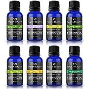 Radha Aromatherapy Essential Oils, 10 Milliliter, Pack of 8