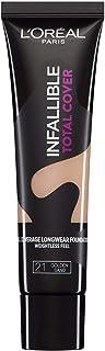 L'Oréal Paris Infaillible Total Cover Foundation, 21 Golden Sand