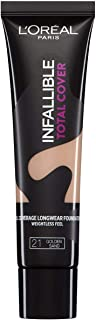 L'Oréal Paris Infaillible Total Cover Foundation, 21 Golden Sand