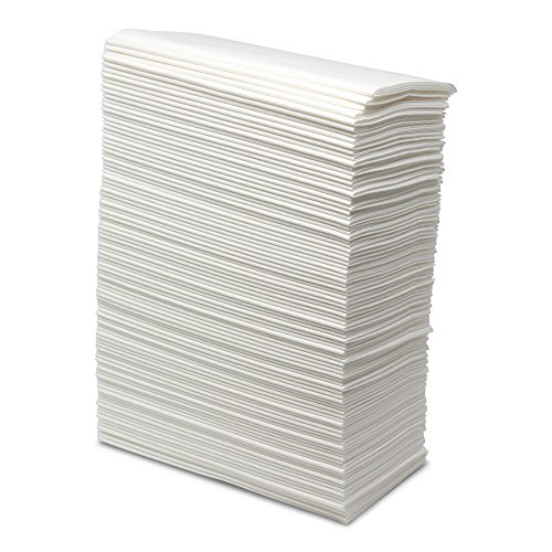 Linen Feel Cloth Like Dinner Napkins Disposable - 1000 Count - 8 x 17 - White Bathroom Guest Hand Napkin Towels - Paterson Paper