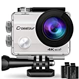 Crosstour Action Cam 4K WiFi 16MP Camera Ultra HD 30M Unterwasserkamera 170°Ultra-Weitwinkel mit 2...