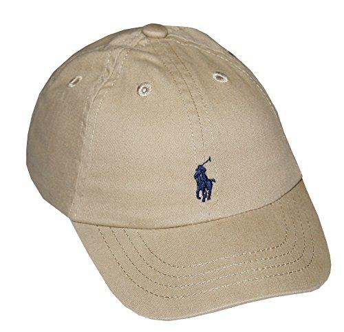 Ralph Lauren Infant Unisex Cotton Twill Baseball Cap (One size, Classic khaki)
