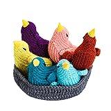Moni's Choice Easter Bird Stuffed Animal, 100% Handmade Toy Set, Children's Day Gift, Crochet Easter Basket, Bird Plush Toy