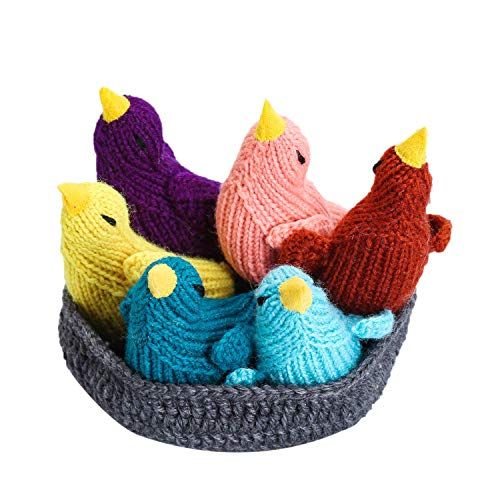 Moni's Choice Easter Bird Stuffed Animal, 100% Handmade Toy Set, Children's Day Gift, Crochet Easter Basket, Bird Plush Toy