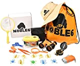 Noble6 Bug Catcher Kit for Kids, Outdoor Explorer Kit, Nature Exploring Set, Camping & Hiking, Flashlight, Compass, Binoculars, Magnifying Glass, Backpack, Great Gift Boys & Girls 3-12 Years Old