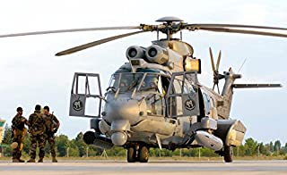 Posterazzi Poster Print Collection Royal Saudi Air Force AS532 Cougar Csar Helicopter Giovanni Colla/Stocktrek Images, (34 x 22), Multicolored