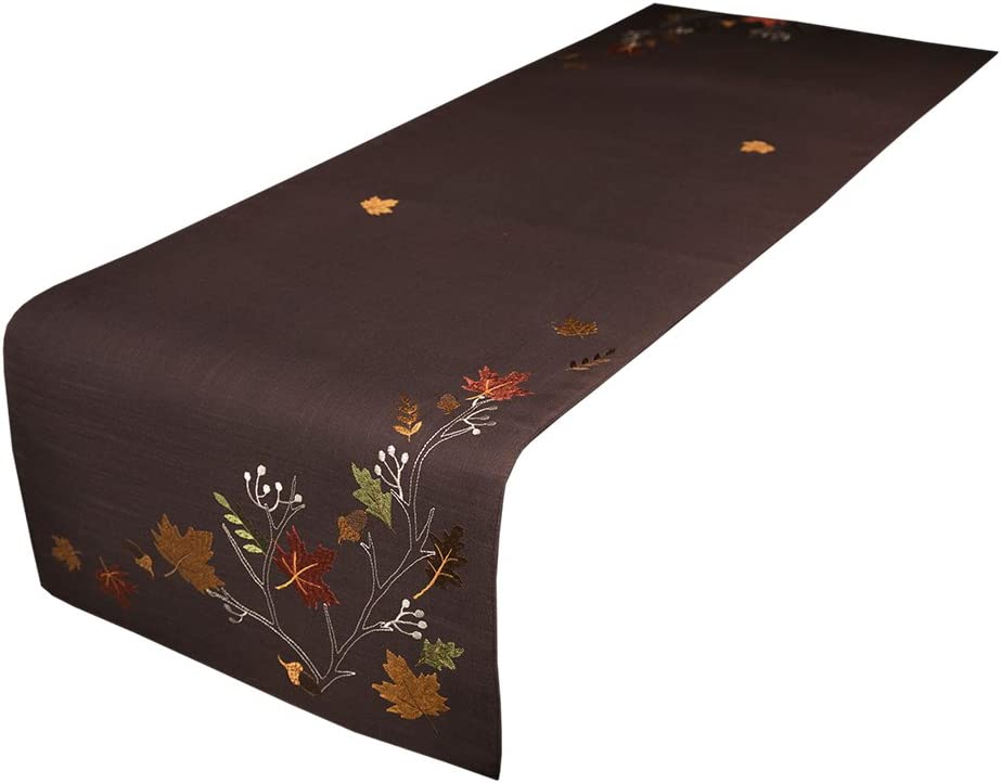 Very popular Xia Home Fashions XD17147 Autumn Table Fall Embroidered Max 67% OFF Branches