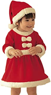 Baby Girls Santa Claus Costume Dress for Christmas Day/Party/Show