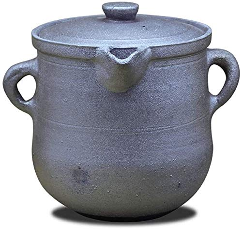 WANGQW Pote de cazuela de cerámica Antiadherente, Stockpot para guisado Clay Chinese Pot Antiguo Retro Hecho A Mano Hecho A Mano Casserole Stef Pot Pied Stone Medicine BOT (Color : 10l)