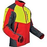 Pfanner–105544/L'ventilazione Forest Jacket, rosso/giallo/grigio, grande