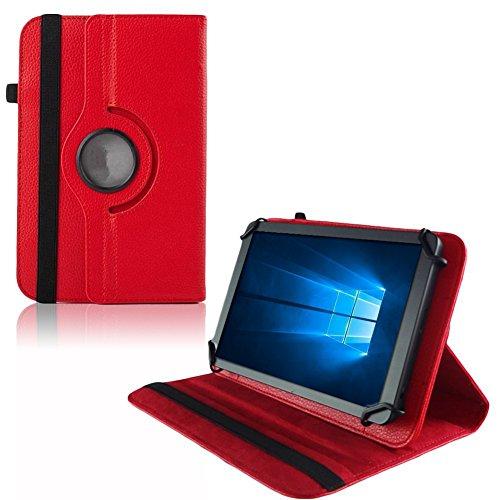 UC-Express Hülle Blaupunkt Enterprise 1020CH Tablet Tasche Schutzhülle Universal Hülle Cover, Farben:Rot