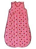 Schlummersack PREMIUM Ganzjahres Babyschlafsack in rosa für Mädchen gefüttert 2.5 Tog - Äpfel -70 cm / 0-6 Monate