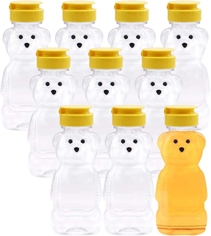 Ranking TOP15 8 Oz Fees free!! Plastic Bear Honey Bottle 10 with Jar Squeeze Fl Pack