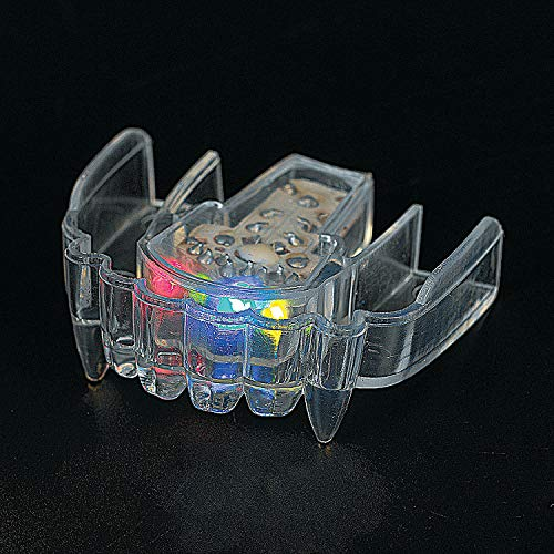 Fun Express - Led Flashing Fangs Mouthpiece - Toys - Value Toys - Light Up Toys - 12 Pieces