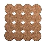 U Brands Fashion Craft Cork Tiles, 12 x 12 pulgadas, 2 paquetes de U Brands