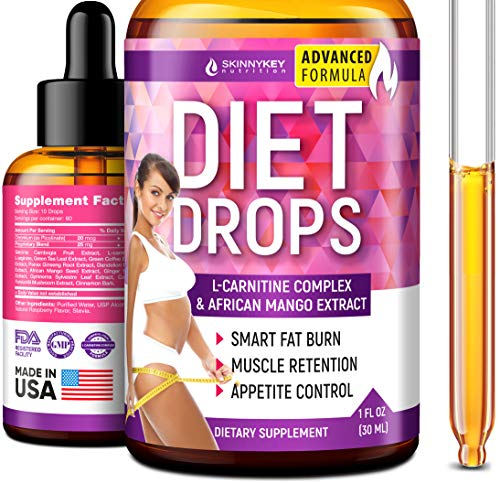 Appetite Suppressant for Women & Men - Weight Loss Drops - Made in USA - Natural Metabolism Booster Diet Drops - Fat Burner with L-Carnitine, Garcinia Cambogia & Green Coffee - for Fast Weight Loss