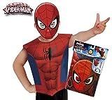 Marvel - Disfraz de Spiderman set de fiesta camiseta + máscara, talla única S-M 3-6 años (Rubie's 620967)