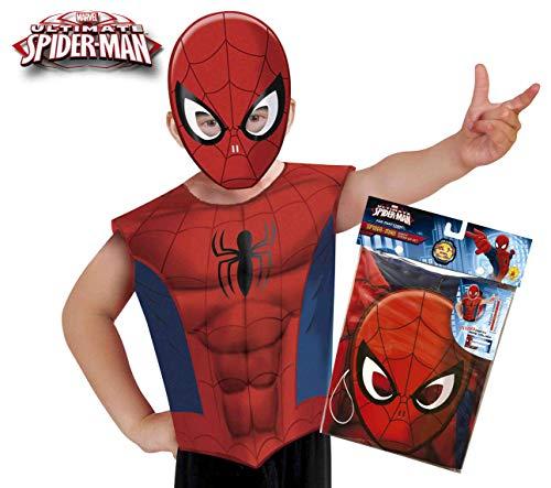 Rubies-620967 Spiderman Disfraz Party Camiseta+máscara Multicolor, S-M Rubie's Spain 620967
