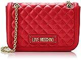 Love Moschino Quilted Nappa Pu, Borsa a Spalla Donna, (Rosso), 15x10x15 cm (W x H x L)