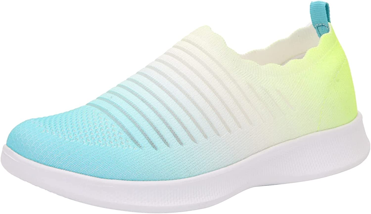 NLLSHGJ Running Shoes for Women Wide Width Breathable Slip-on Wedges Outdoor Leisure Sport Gym Jogging Tennis Fitness Sneakers