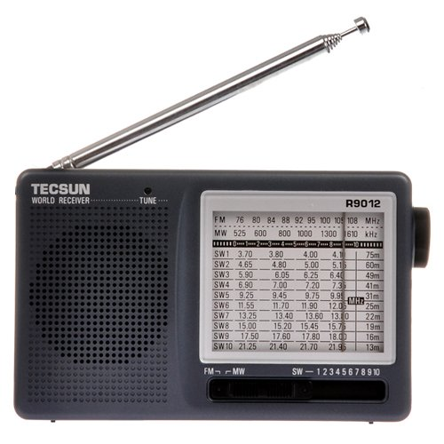 TECSUN R-9012 AM/FM/SW 12 Bands Shortwave Radio Portable Receiver Gray