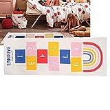 koulate Estera de rayuela para niños Ultra Suave, alfombras Antideslizantes para bebés, Piso, Juego de Gateo, Estera Rectangular, decoración del hogar