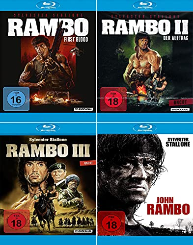 Rambo 1 - 4 Collection (John Rambo) [4er Blu-ray-Set]