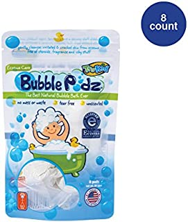 TruKid Eczema Care Calming Bubble Podz for Kids with Sensitive Skin, 8 Count
