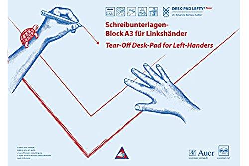 KUM AZ906.02.19 - Schreibtisch-Auflage Desk Pad Lefty, für Linkshänder, 42 x 29,7 cm, Papier, 1 St.