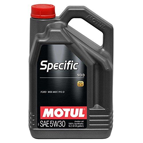 MOTUL Aceite de Motor específico 104560 913D 5 W-30 Aceite de Motor de Baja viscosidad 5l