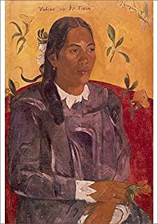 Media Storehouse A2 Poster of Woman with Flower (Vahine no te Tiare), 1891, by Paul Gauguin (1848-1903) (10608668)