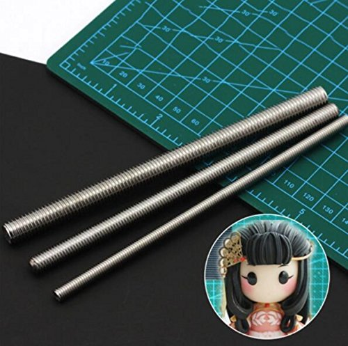 CHENGYIDA 3pcs Clay Sculpture Hair Texture Tool Special Texture Effect Tool fit for Doll Making Handmade Tools