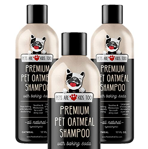 Pet Oatmeal Anti-Itch Shampoo & Conditioner In One! Smelly Puppy Dog & Cat Wash, Natural Ingredients! Relief For Allergies, Itchy, Dry, Irritated Skin!! Smells Amazing! (1 btl)