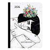 Matabooks, nachhaltige und vegane Notizbücher A6 aus Graspapier, Samenbuch, 108 blanko Seiten, Natur, Handmade, Made in Germany (Growing)