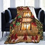 256 Manta de forro polar para chimenea, ligera, muy suave, para sofá, cama, sala de estar, sofá, silla, 80 x 60 pulgadas