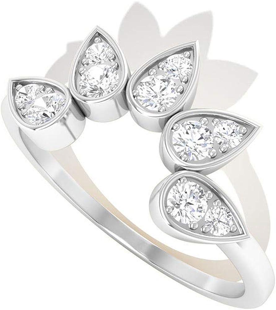 1/4 CT Minimal Moissanite Enhancer Ring (AAA Quality), 14K Gold