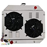 79 ford bronco radiator - ALLOYWORKS 4 Row All Aluminum Radiator + Shroud Fan + Thermostat for 1966-1979 Ford F100 F150 F250 F350 Bronco V8 AT/MT
