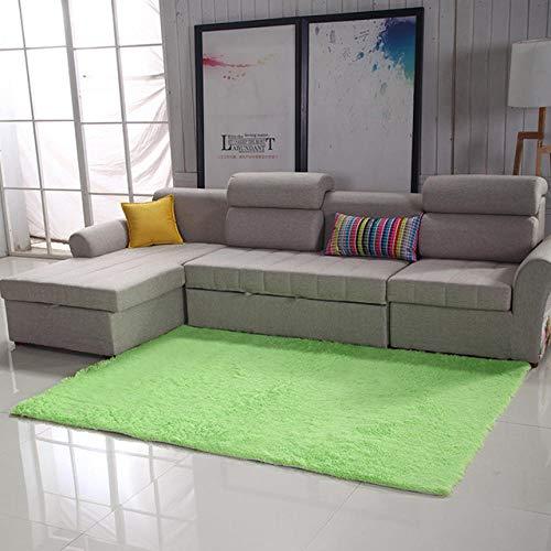 LAMEDER Home Alfombra Interior,Alfombra gruesa y Minimalista Moderna y gruesa en El Interior, alfombra Suave y Resistente al Medio Ambiente Cerca del sofá de la Sala de estar, Verde, 100 × 160 cm