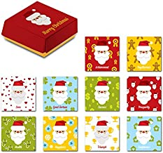 Santa Claus Christmas Gift Special 10 Piece Refrigerator Magnets Set Comes In A Designed Red Package, The Best Creative Holiday Present Suitable For Kitchen Decoration, White Boards, Fridge And More