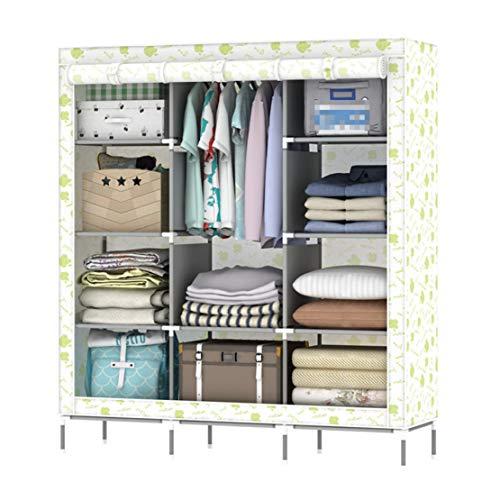 MFASD Opvouwbare opbergkast van stof met stang, vliesstof, kledingkast, kast, canvas