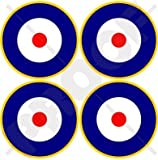 RAF British Royal AirForce Type A2 Aircraft Roundels 2' (50mm) Vinyl Stickers, Decals x4