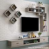 Estante flotante para montar en la pared para TV, armario, pared, estante de almacenamiento, consola de medios flotante, estante de TV con cajón para DVD, televisión por satélite, caja de cables