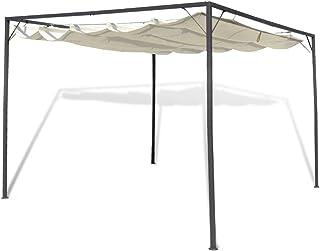 mewmewcat Carpa de Jardín Techo Retráctil Cenador para Patio Tienda 3 x 3 x 2,3 m para Camping Fiesta Celebraciones Evento al Aire Libre Boda Fiest