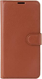 Zhouzl Mobile Phone Leather Cases for Sony Xperia XZ Premium Litchi Texture Horizontal Flip Leather Case with Holder & Card Slots & Wallet(Black) Leather Cases (Color : Brown)