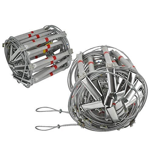 Dequate Tragbare Feuerleiter Balkon - 5M 8M 10M Fluchtleiter Home Einziehbare Notleiter Balkon Mit Schnalle, Stahldraht Aluminiumlegierung