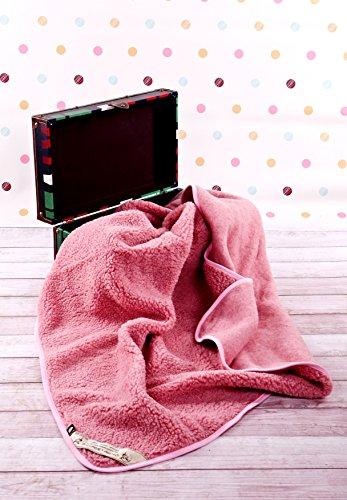 Cuna Manta de 100% Pura Lana Merina 140/100cm Cálido y Natural Certificada por Woolmark. Muy Suave y Confortable. bebé Manta 100% DE Lana Merino