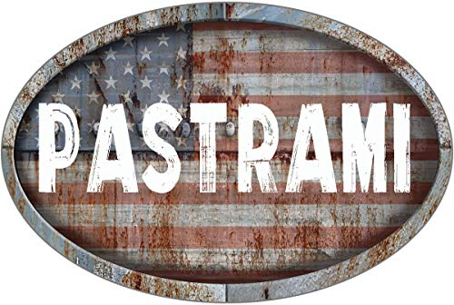 ANY AND ALL GRAPHICS PASTRAMI Patriotic American Flag Rusty Rustic Metal 8