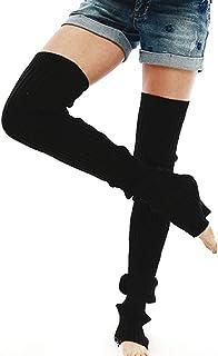 Nanxson Damen Stulpen Lange Gestrickt Beinwärmer Winter Beinstulpen Strumpf für Ballett Fitness Yoga TTW0056