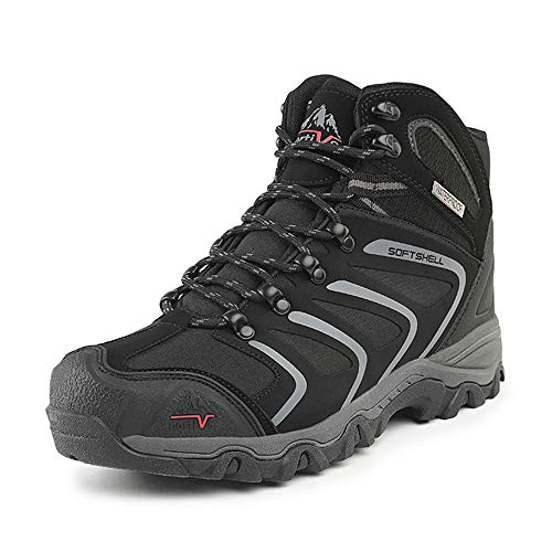 NORTIV 8 Men's Ankle High Waterproof Hiking Boots Outdoor Lightweight Shoes Backpacking Trekking...
